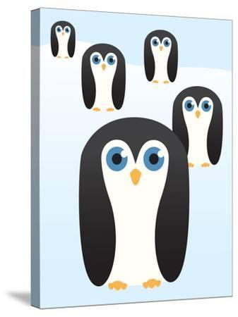 Penguin Cute Cartoon-pelonmaker-Stretched Canvas Print