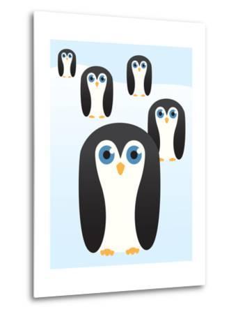 Penguin Cute Cartoon-pelonmaker-Metal Print