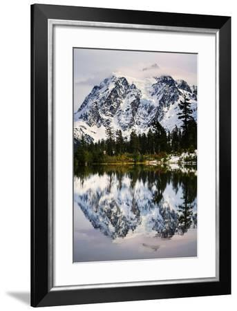 Fall Reflections-Nancy Crowell-Framed Photographic Print