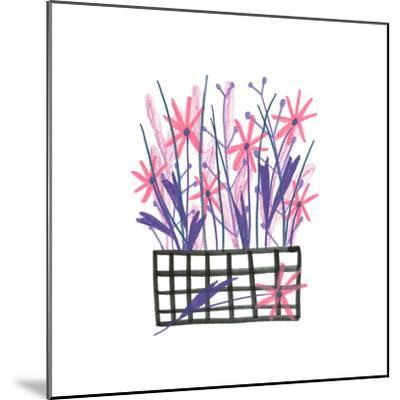 Flowerpot 5-Erin Lin-Mounted Premium Giclee Print