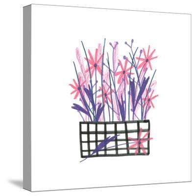 Flowerpot 5-Erin Lin-Stretched Canvas Print