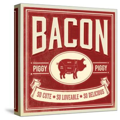 Piggy Piggy-Cory Steffen-Stretched Canvas Print