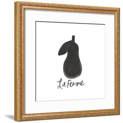 Black Pear 1-Erin Lin-Framed Premium Giclee Print