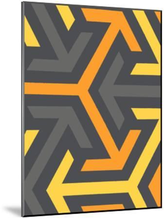 Monochrome Patterns 8 in Yellow-Natasha Marie-Mounted Premium Giclee Print