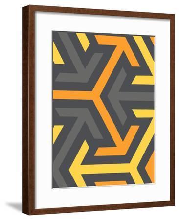 Monochrome Patterns 8 in Yellow-Natasha Marie-Framed Premium Giclee Print