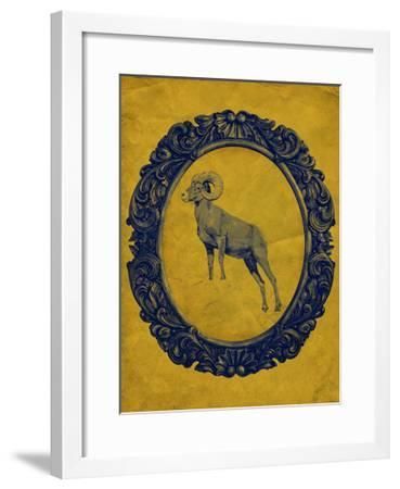 Framed Bighorn Sheep in Yellow-THE Studio-Framed Premium Giclee Print