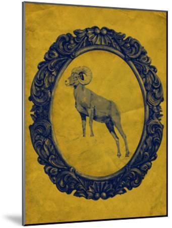 Framed Bighorn Sheep in Yellow-THE Studio-Mounted Premium Giclee Print