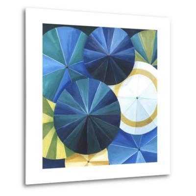 Blue Umbrella-Natasha Marie-Metal Print
