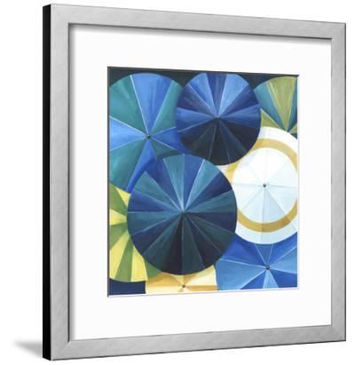 Blue Umbrella-Natasha Marie-Framed Premium Giclee Print