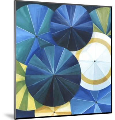 Blue Umbrella-Natasha Marie-Mounted Premium Giclee Print