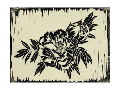 Natural Linocut B-THE Studio-Stretched Canvas Print