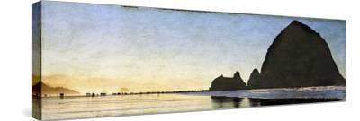 Cannon Beach Stroll-Doug Landreth-Stretched Canvas Print