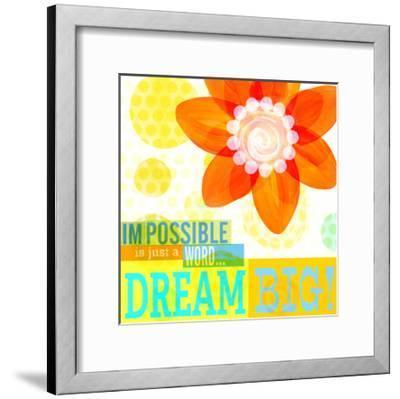 Dream Every Day - Dream Big-Cory Steffen-Framed Premium Giclee Print