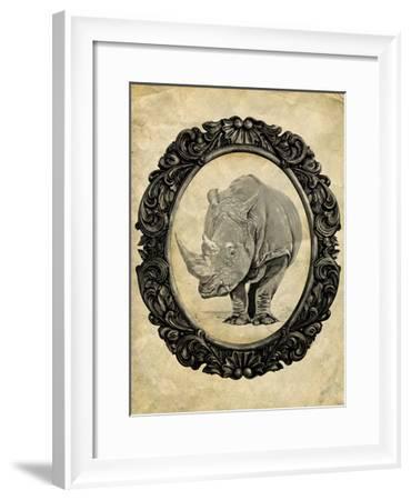 Framed Rhinoceros-THE Studio-Framed Premium Giclee Print
