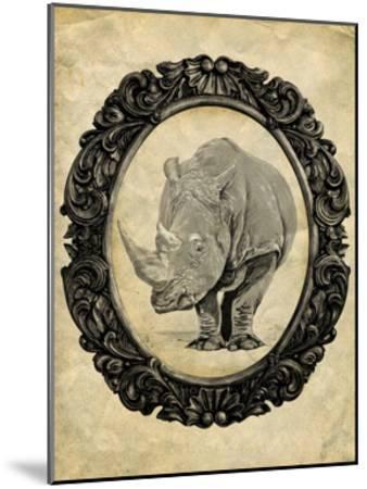 Framed Rhinoceros-THE Studio-Mounted Premium Giclee Print