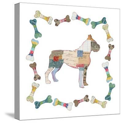 Good Dog I Sq with Border-Courtney Prahl-Stretched Canvas Print
