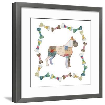 Good Dog I Sq with Border-Courtney Prahl-Framed Art Print