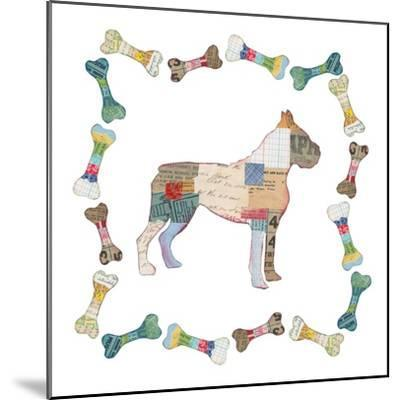 Good Dog I Sq with Border-Courtney Prahl-Mounted Art Print