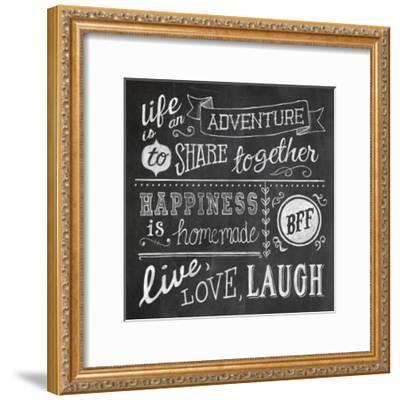 Inspiration Chalkboard II-Mary Urban-Framed Art Print