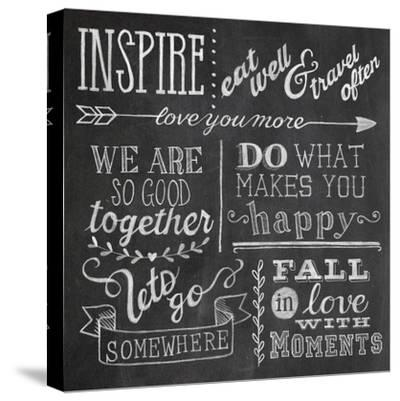 Inspiration Chalkboard III-Mary Urban-Stretched Canvas Print