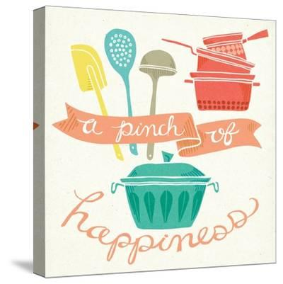 A Pinch of Happiness-Mary Urban-Stretched Canvas Print