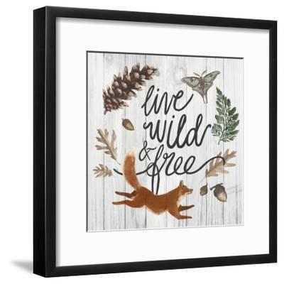 Live Wild and Free-Sara Zieve Miller-Framed Art Print