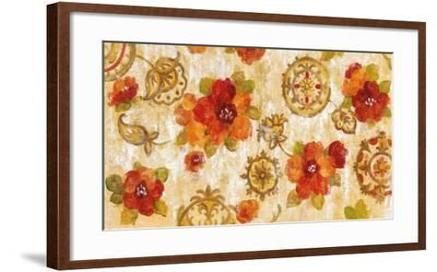 Hibiscus and Mandala-Silvia Vassileva-Framed Art Print