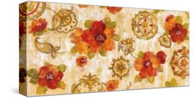 Hibiscus and Mandala-Silvia Vassileva-Stretched Canvas Print
