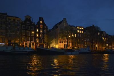 View from Amsterdam Canal at Night-Anna Miller-Framed Photographic Print