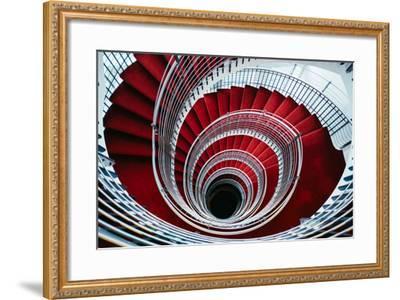 Spiral Staircase, Nordic Style and Design Hilton Reykjavik Iceland-Vincent James-Framed Photographic Print