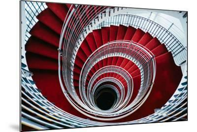 Spiral Staircase, Nordic Style and Design Hilton Reykjavik Iceland-Vincent James-Mounted Photographic Print