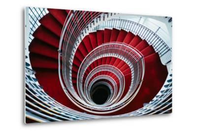 Spiral Staircase, Nordic Style and Design Hilton Reykjavik Iceland-Vincent James-Metal Print