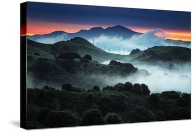 Sunrise Fog Landscape, Oakland, East Bay Hills San Francisco-Vincent James-Stretched Canvas Print