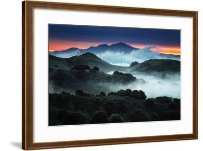 Sunrise Fog Landscape, Oakland, East Bay Hills San Francisco-Vincent James-Framed Photographic Print