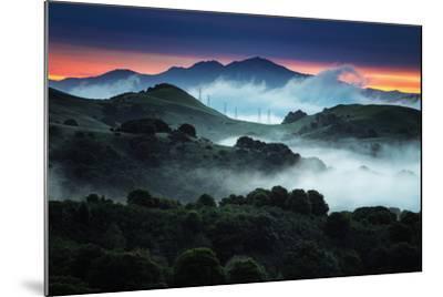 Sunrise Fog Landscape, Oakland, East Bay Hills San Francisco-Vincent James-Mounted Photographic Print