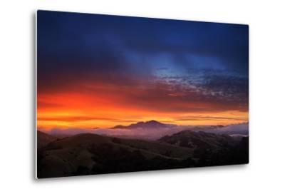 Mount Diablo Sunrise magic, East bay Hills, San Francisco-Vincent James-Metal Print