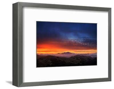 Mount Diablo Sunrise magic, East bay Hills, San Francisco-Vincent James-Framed Photographic Print