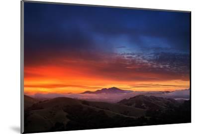 Mount Diablo Sunrise magic, East bay Hills, San Francisco-Vincent James-Mounted Photographic Print
