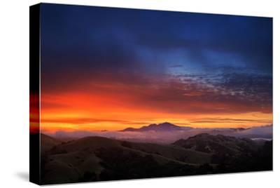 Mount Diablo Sunrise magic, East bay Hills, San Francisco-Vincent James-Stretched Canvas Print
