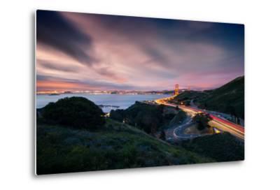 Grand East View, Beautiful Golden Gate Bridge, San Francisco Cityscape-Vincent James-Metal Print
