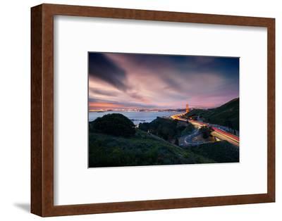Grand East View, Beautiful Golden Gate Bridge, San Francisco Cityscape-Vincent James-Framed Photographic Print