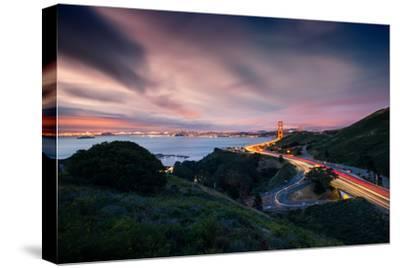 Grand East View, Beautiful Golden Gate Bridge, San Francisco Cityscape-Vincent James-Stretched Canvas Print