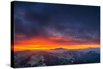 Diablo Awakens, Epic San Francisco Bay Area Sunrise-Vincent James-Stretched Canvas Print