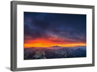 Diablo Awakens, Epic San Francisco Bay Area Sunrise-Vincent James-Framed Photographic Print