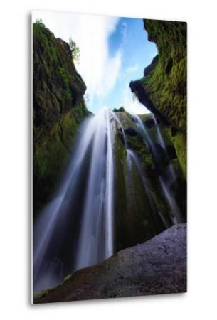 Magical Gljúfrafoss, Waterfall Southern Iceland Coast-Vincent James-Metal Print