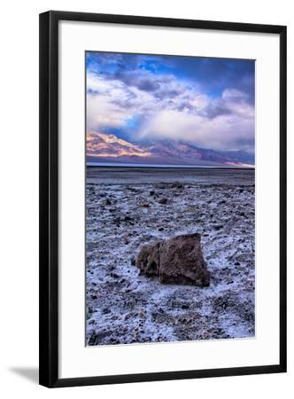 Stormy Scene at Devil's Golfcourse Death Valley National Park, California-Vincent James-Framed Photographic Print