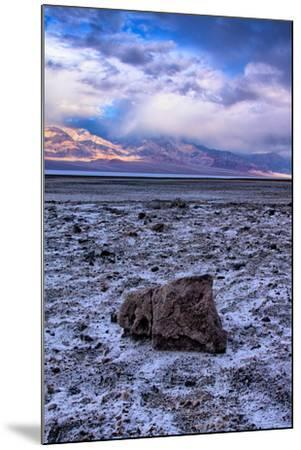 Stormy Scene at Devil's Golfcourse Death Valley National Park, California-Vincent James-Mounted Photographic Print