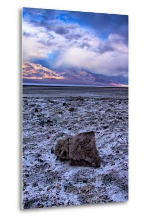 Stormy Scene at Devil's Golfcourse Death Valley National Park, California-Vincent James-Metal Print