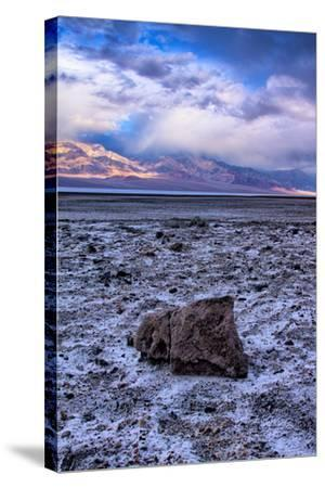 Stormy Scene at Devil's Golfcourse Death Valley National Park, California-Vincent James-Stretched Canvas Print