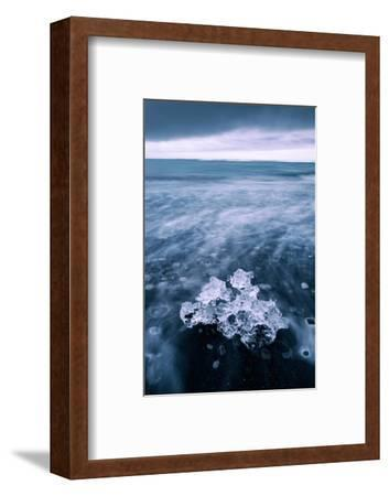Ice Beach Flow, Jökulsárlón Glacier Lagoon, Southern Iceland-Vincent James-Framed Photographic Print